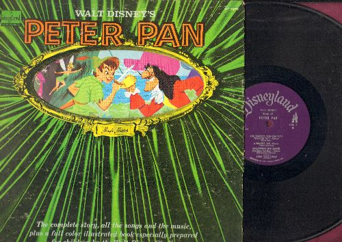 Disney - Walt Disney's Peter Pan - The Sory, The Songs, The Music PLUS an 11 page book of full color illustrations! (vinyl STEREO LP record, gate-fold cover) - VG7/EX8 - LP Records