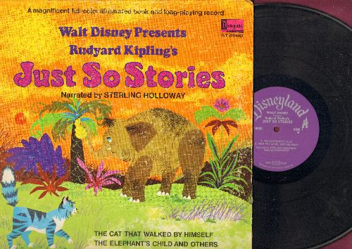 Disney - Just So Stories - Narrated by Sterling Holloway (vinyl STEREO LP record, gate-fold cover with picture pages) - EX8/EX8 - LP Records
