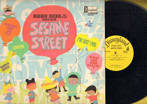 Disney - Rubber Duckie And Other Songs From Sesame Street: Green, Somebody Come And Play, I've Got Two (vinyl MONO LP record) - EX8/VG7 - LP Records