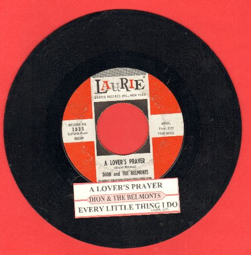Dion & The Belmonts - A Lover's Prayer/Every Little Thing I Do (with juke box label) - VG7/ - 45 rpm Records
