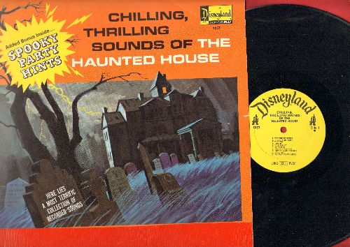 Disney - Chilling, Thrilling Sounds Of The Haunted House - with Spooky Party Games on inner paper sleeve! (vinyl MONO LP record) - EX8/VG6 - LP Records