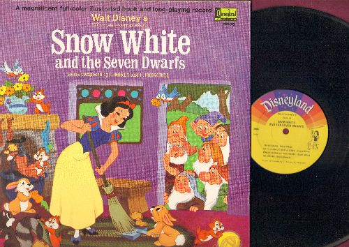 Disney - Snow White and the Seven Dwarfs - Story and Songs from the Original Motion Picture Sound Track (Vinyl LP record with full-color picture pages) - NM9/VG7 - LP Records