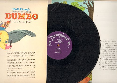 Disney - Walt Disney's Dumbo - The complete story and music, includes giant size full color illustrated pages (Vinyl MONO LP record) - VG7/VG7 - LP Records