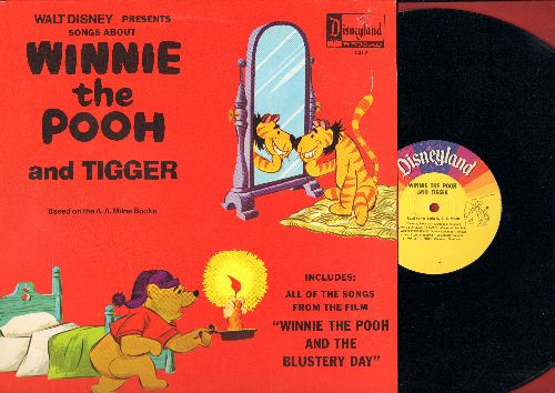 Disney - Winnie The Pooh and Tigger - Includes all the songs from film -Winnie The Pooh And The Blustery Day- (Vinyl MONO LP record) - NM9/EX8 - LP Records