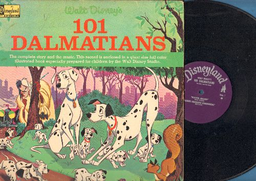 Disney - 101 Dalmations - The complete story and music, with full color illustrated pages (vinyl STEREO LP record, gate-fold cover) - VG7/VG7 - LP Records