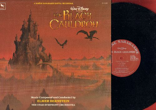 Bernstein, Elmer conducting The Utah Symphony Orchestra - Walt Disney Presents The Black Cauldron - Original Motion Picture Soundtrack, music composed and conducted by Elmer Bernstein (vinyl STEREO LP record) - NM9/NM9 - LP Records