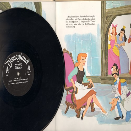 Disney - Cinderella - The Beloved Disney Classic in song and pictures (Vinyl MONO LP record) - VG7/VG7 - LP Records