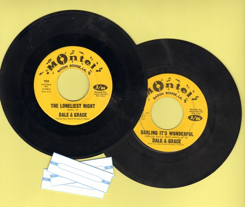 Dale & Grace - 2 for 1 Special: The Loneliest Night/Darling It's Wonderful (2 vintage first issue 45rpm records for the price of 1!) - EX8/ - 45 rpm Records