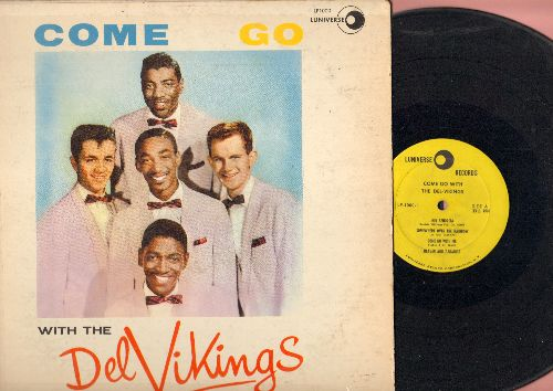 Dell Vikings - Come Go With Me: Over The Rainbow, Hey Senorita, Heaven And Paradise (RARE 1957 first pressing, cover has clear tape over seams) - VG7/VG6 - LP Records