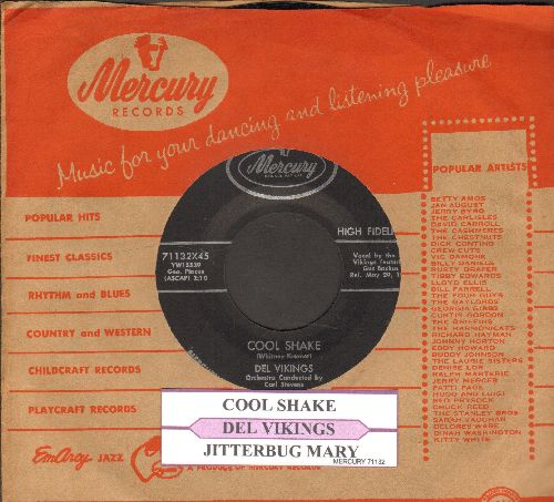 Dell Vikings - Cool Shake/Jitterbug Mary (with juke box label and vintage Mercury company sleeve) - NM9/ - 45 rpm Records