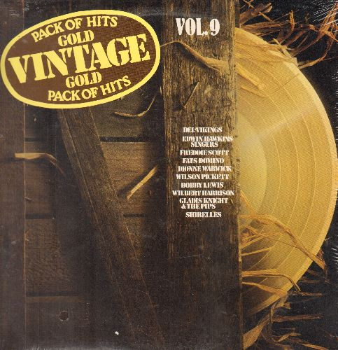 Del-Vikings, Shirelles, Bobby Lewis, others - Vintage Gold Vol. 9: Whispering Bells, Lawdy Miss Clawdy, Kansas City, I Got Love, Oh Happy Day (vinyl LP record, SEALED, never opened!) - SEALED/SEALED - LP Records