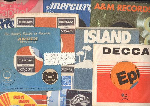 Company Sleeves - 12 Vintage Company Sleeves - Set #012-36 (exactly as pictured!) - Dress up your 7 inch vinyl records in original company sleeves of the 1960s & 70s. Good to excellent condition. - /EX8/EX8 - Supplies
