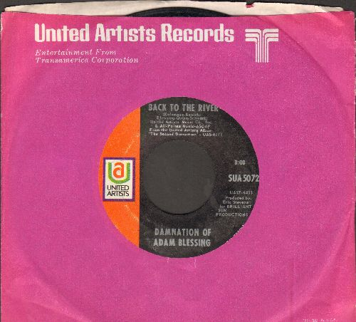 Damnation Of Adam Blessing - Back To The River/Driver (with United Artists company sleeve) - EX8/ - 45 rpm Records