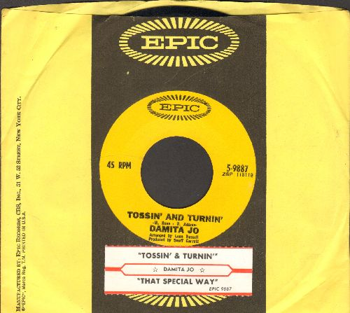 Damita Jo - Tossin' And Turnin'/That Special Way (with juke box label and vintage Epic company sleeve) - EX8/ - 45 rpm Records