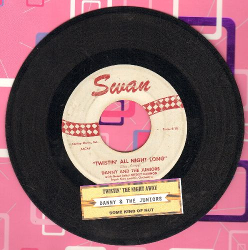 Danny & The Juniors - Twistin' All Night Long/Some King Of Nut (with juke box label) - VG7/ - 45 rpm Records