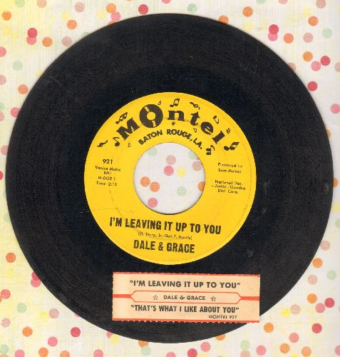 Dale & Grace - I'm Leaving It Up To You/That's What I Like About You  - EX8/ - 45 rpm Records