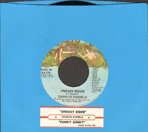 Daniels, Charlie - Uneasy Rider/Funky Junky (1973 first pressing with juke box label) - NM9/ - 45 rpm Records