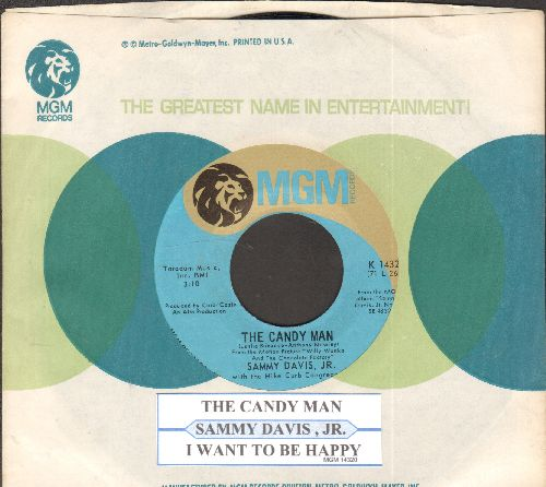 Davis, Sammy Jr. - Candy Man (from film Willy Wonka & The Chocolate Factory)/I Want To Be Happy (MINT condition with MGM company sleeve and juke box label) - M10/ - 45 rpm Records