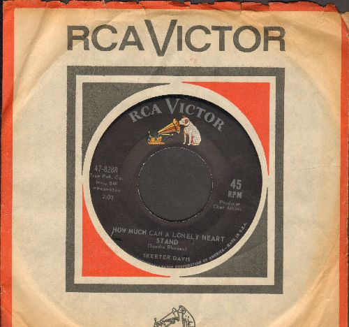 Davis, Skeeter - He Says The Same Things To Me/How Much Can A Lonely Heart Stand (with vintage RCA company sleeve) - NM9/ - 45 rpm Records