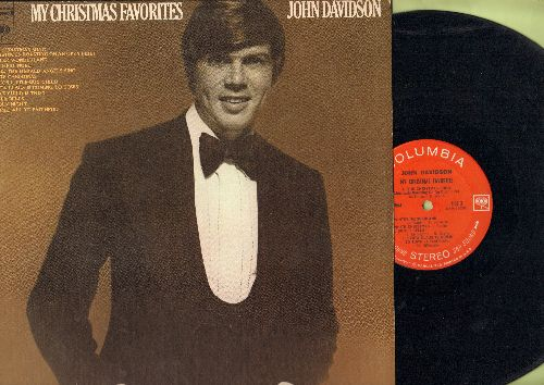 Davidson, John - My Christmas Favorites: The Christmas Song, Santa Claus Is Coming To Time, White Christmas, Silver Bells (vinyl STEREO LP record) - EX8/EX8 - LP Records