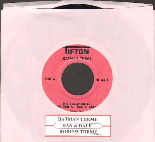 Dan & Dale - Batman Theme/Robin's Theme (with juke box label) - VG7/ - 45 rpm Records