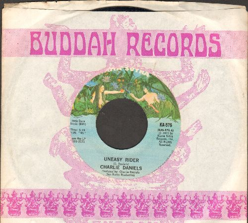 Daniels, Charlie - Uneasy Rider/Funky Junky (1973 first pressing with company sleeve) - NM9/ - 45 rpm Records