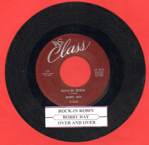 Day, Bobby - Rock-In Robin/Over And Over (with juke box label) - VG7/ - 45 rpm Records