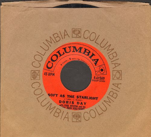 Day, Doris - Soft As The Starlight/Anyway The Wind Blows (with vintage Columbia company sleeve) - EX8/ - 45 rpm Records
