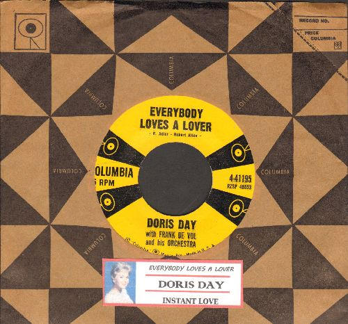 Day, Doris - Everybody Loves A Lover/Instant Love (with Columbia company sleeve and juke box label) - NM9/ - 45 rpm Records