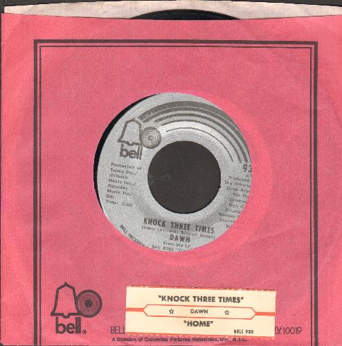 Dawn - Knock Three Times/Home (with Bell company sleeve and juke box label) - NM9/ - 45 rpm Records