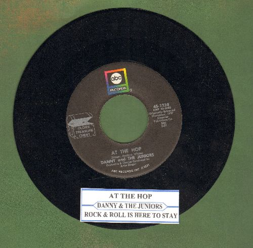 Danny & The Juniors - At The Hop/Rock And Roll Is Here To Stay (double-hit re-issue with juke box label) - NM9/ - 45 rpm Records
