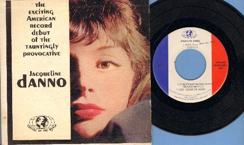 Danno, Jaqueline - Jaqeuiline Danno: Alors/Et Maintenant/Dormir Avec Vous/Faits Divers (vinyl PRMO EP with picture cover) - EX8/EX8 - 45 rpm Records