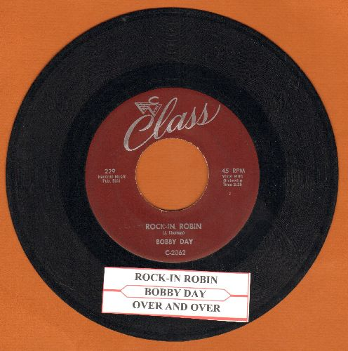 Day, Bobby - Rock-In Robin/Over And Over (with juke box label) - NM9/ - 45 rpm Records