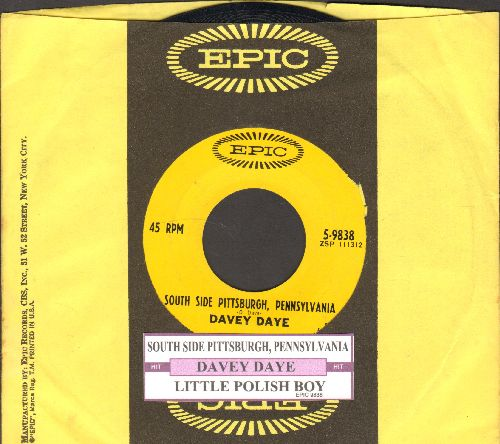 Daye, Davey - South Side Pittsburgh, Pennsylvania (HILARIOUS Polka-Novelty 2-sider with juke box label and company sleeve) - NM9/ - 45 rpm Records