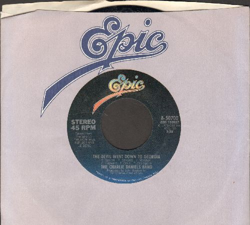 Daniels, Charlie Band - The Devil Went Down To Georgia/Rainbow Ride (with Epic company sleeve) - NM9/ - 45 rpm Records