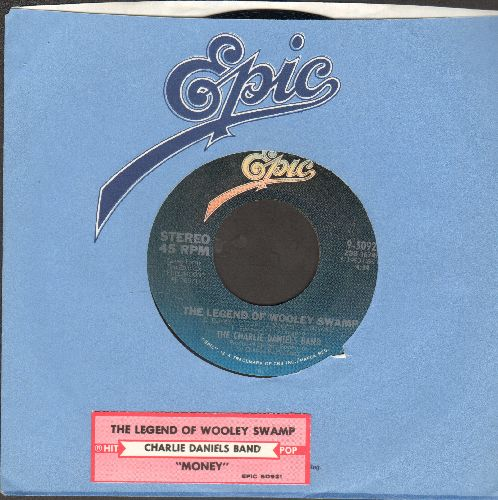 Daniels, Charlie Band - The Legend Of Whooley Swamp (FANTASTIC Southern Rock Classic!)/Money (with juke box label and Epic company sleeve) - NM9/ - 45 rpm Records