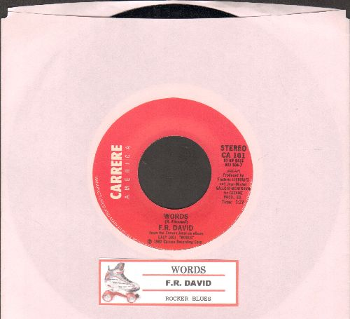 David, F. R. - Words/When The Sun Goes Down (with juke box label) - NM9/ - 45 rpm Records