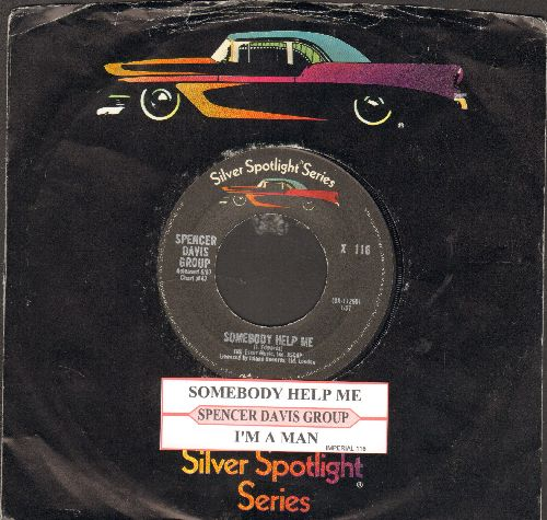 Davis, Spencer Group - Somebody Help Me/I'm A Man (double-hit re-issue with juke box label and company sleeve) - NM9/ - 45 rpm Records
