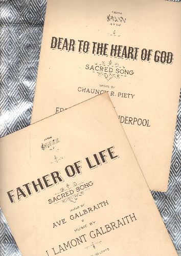 Dear To The Heart Of God/Father Of Life - Dear To The Heart Of God/Father Of Life - Vintage SHEET MUSIC 2 for the price of 1! - Published by Theodore Presser Co. in Philadelphia ca. 1930 - EX8/ - Sheet Music