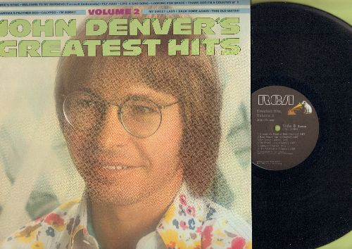 Denver, John - John Denver's Greatest Hits Vol 2: Annie's Song, Fly Away, Thank God I'm A Country Boy, I'm Sorry (Vinyl STEREO LP record) - NM9/NM9 - LP Records