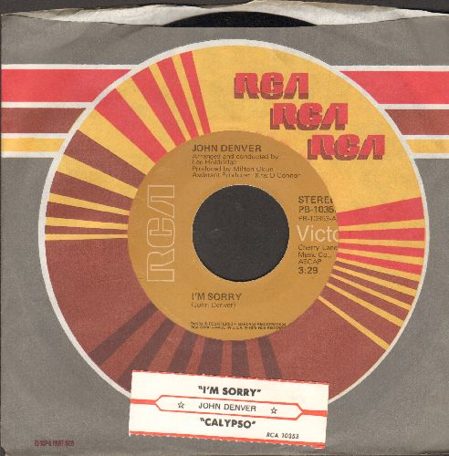 Denver, John - I'm Sorry/Calypso (with RCA company sleeve and juke box label) - NM9/ - 45 rpm Records