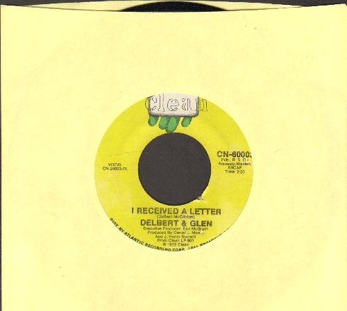 Delbert & Glen - I Received A Letter/I Feel The Burden (Being Lifted Off My Shoulders) - NM9/ - 45 rpm Records