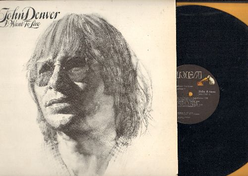 Denver, John - I Want To Live: How Can I Leave You Again, Tradewinds, Singing Skies And Dancing Waters (vinyl STEREO LP record) - EX8/EX8 - LP Records