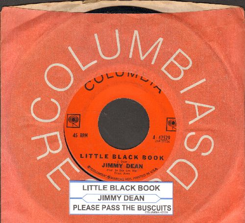 Dean, Jimmy - Little Black Book/Please Pass The Biscuits (with juke box label and Columbia company sleeve) - NM9/ - 45 rpm Records