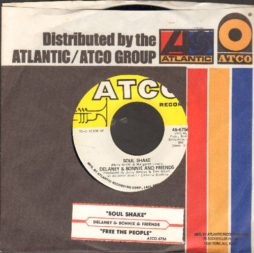 Delaney & Bonnie & Friends - Sould Shake/Free The People (with juke box label and Atco company sleeve) - NM9/ - 45 rpm Records