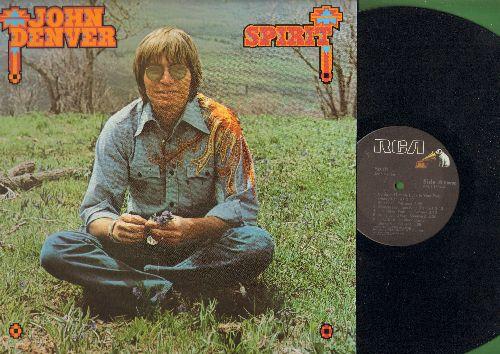 Denver, John - Spirit: Wrangle Mountain Song, Polka Dots And Moonbeams, San Antonio Rose, Pegasus (Vinyl STEREO LP record) - NM9/NM9 - LP Records