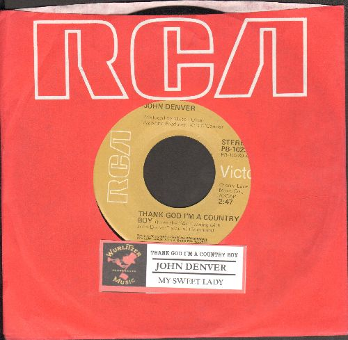 Denver, John - Thank God I'm A Country Boy/My Sweet Lady (with RCA company sleeve and juke box label) - EX8/ - 45 rpm Records