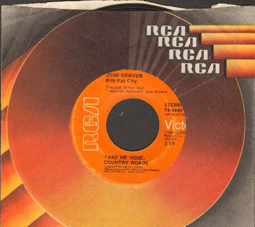 Denver, John - Take Me Home, Country Roads/Poems, Prayers And Promises (with RCA company sleeve) - VG7/ - 45 rpm Records