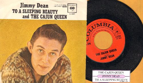Dean, Jimmy - The Cajun Queen/To A Sleeping Beauty (with juke box label and picture sleeve)  - NM9/EX8 - 45 rpm Records