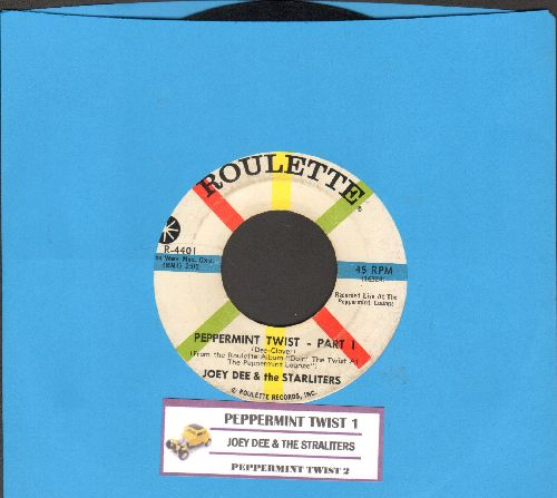 Dee, Joey & The Starliters - Peppermint Twist (Parts 1+2) (with juke box label)(wol) - EX8/ - 45 rpm Records